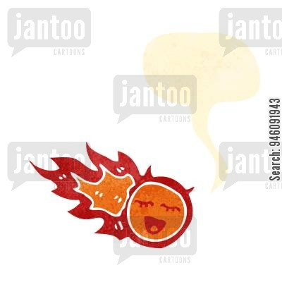 Asteroid clipart fireball. Cartoons humor from jantoo
