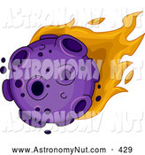 Asteroid clipart flaming. Royalty free stock astronomy