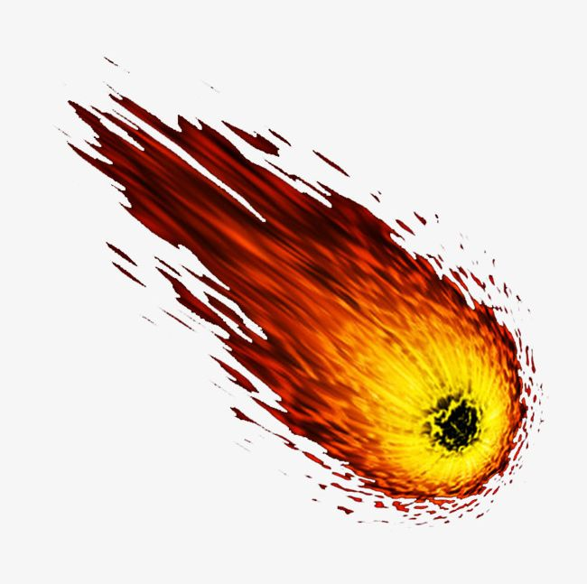Asteroid clipart flaming. Flame meteor png