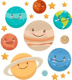 Asteroid clipart kawaii. Space commercial use digital