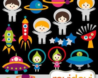 Items similar to space. Asteroid clipart kawaii