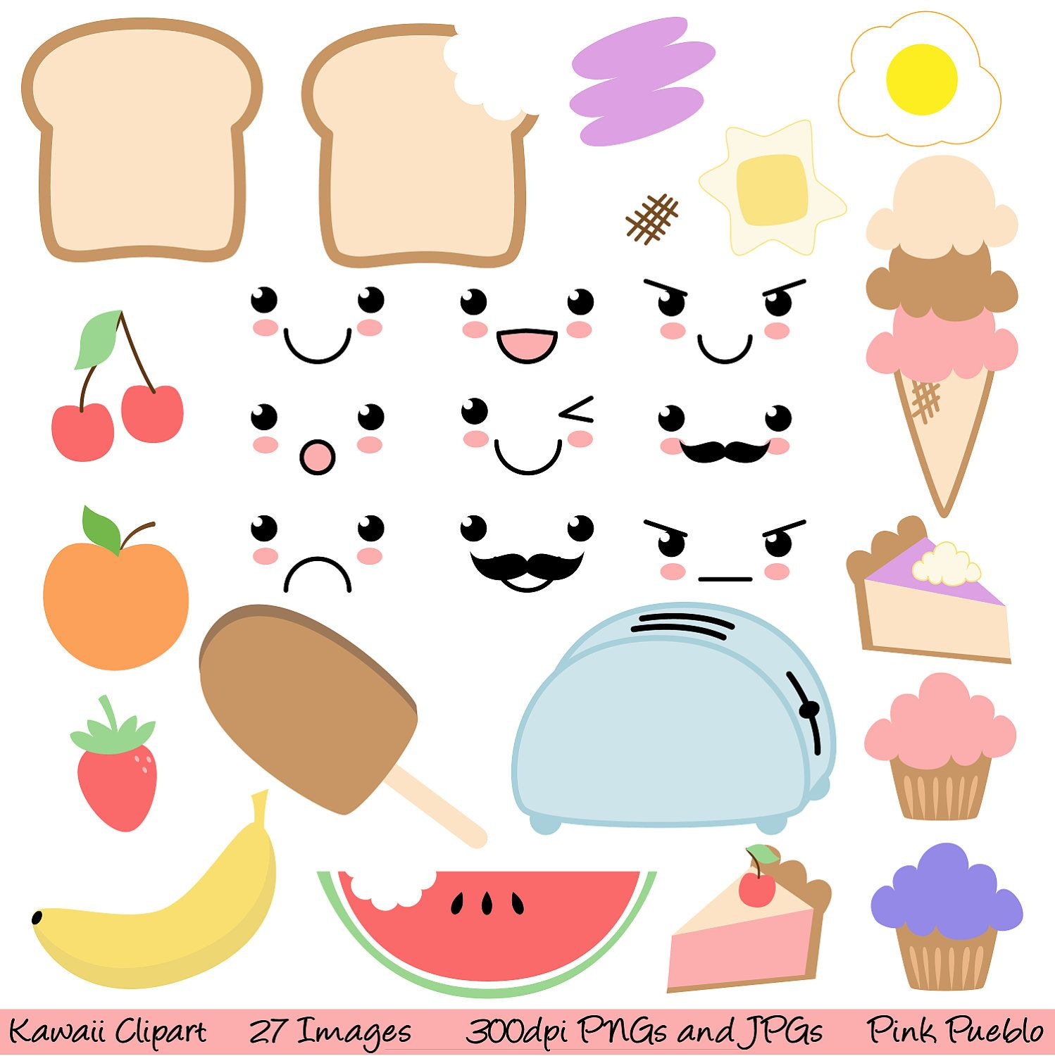 Food clip art commercial. Asteroid clipart kawaii