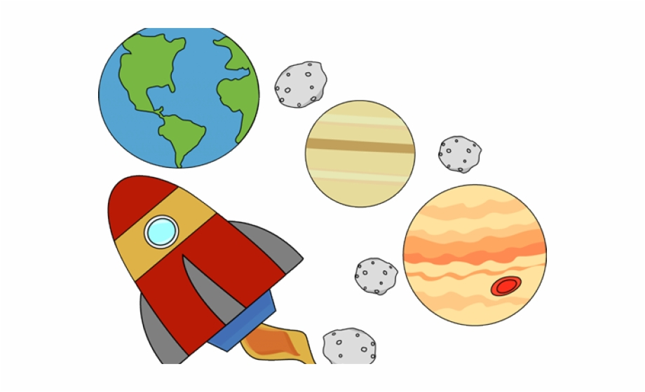 Asteroid clipart kid. Transparent background space for