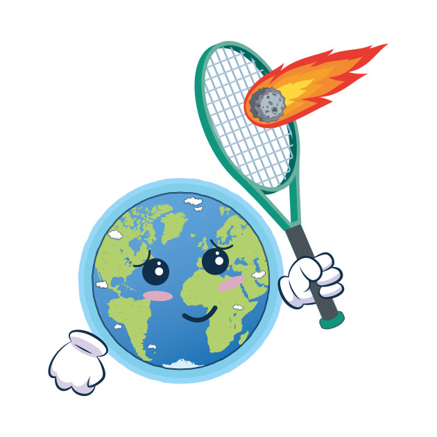 Earth protects us from. Asteroid clipart kid