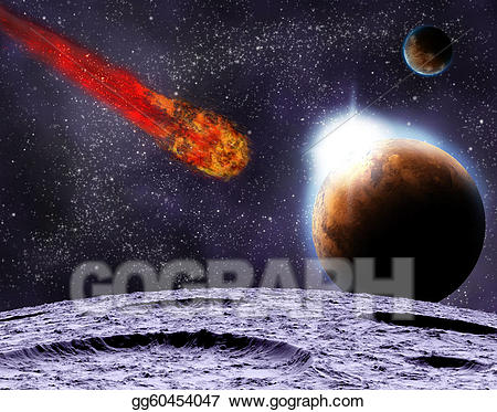 Asteroid clipart meteor impact. Attack of the on