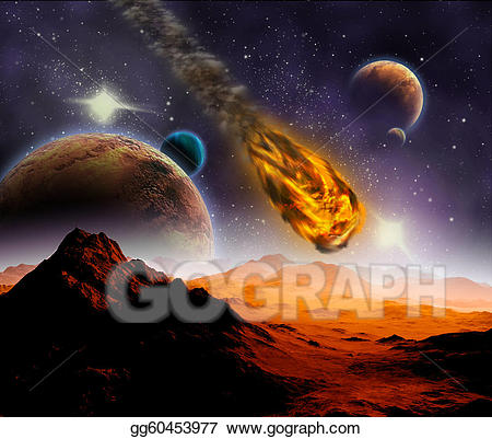 Attack of the on. Asteroid clipart meteor impact