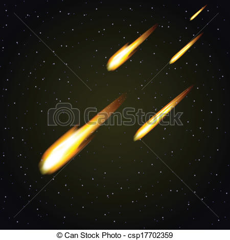 Asteroid clipart meteor shower. Pencil and in color