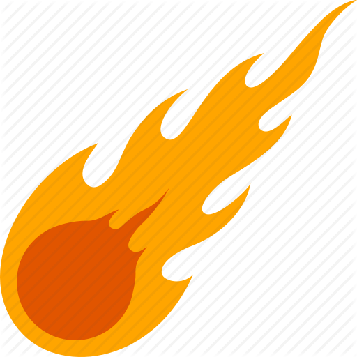 Shower cartoon yellow orange. Asteroid clipart meteoroid