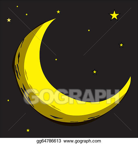 Vector stock star celestial. Asteroid clipart moon crater