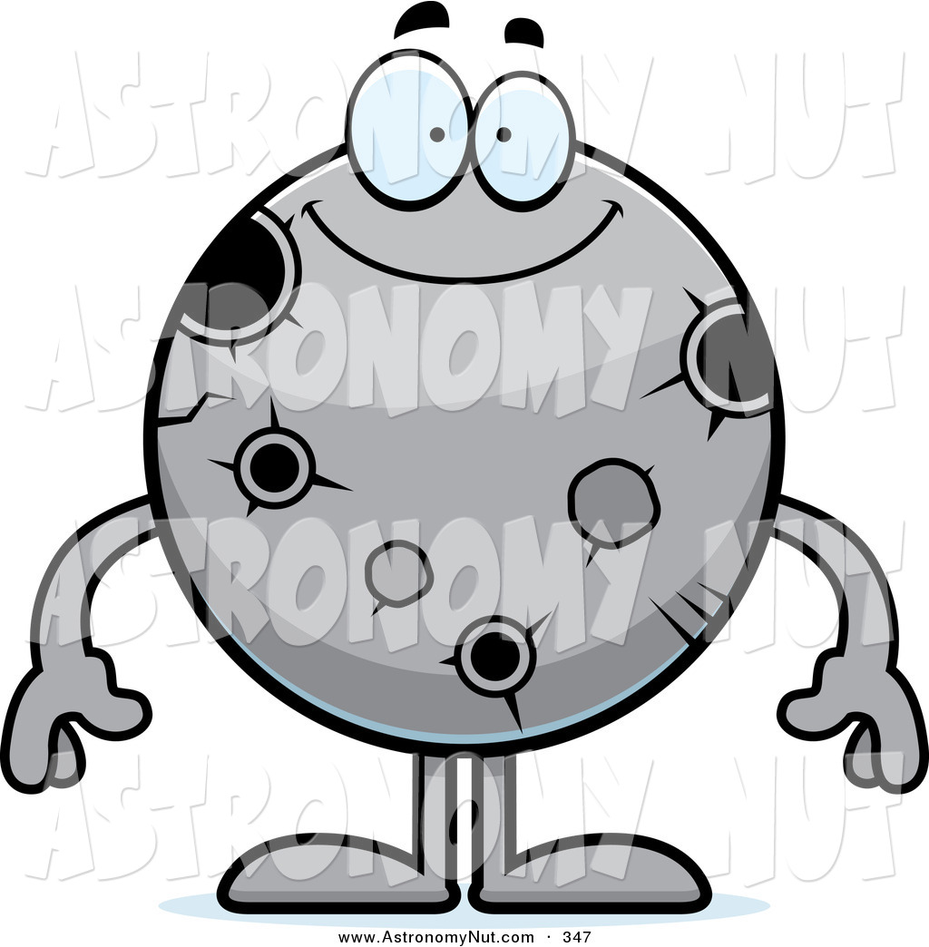 Asteroid clipart moon crater. Royalty free stock astronomy