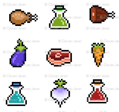 Asteroid clipart pixelated. Rpg items giftwrap lovelylatte