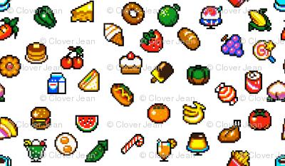 Super mini pixel foods. Asteroid clipart pixelated