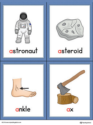 Letter a words and. Asteroid clipart printable