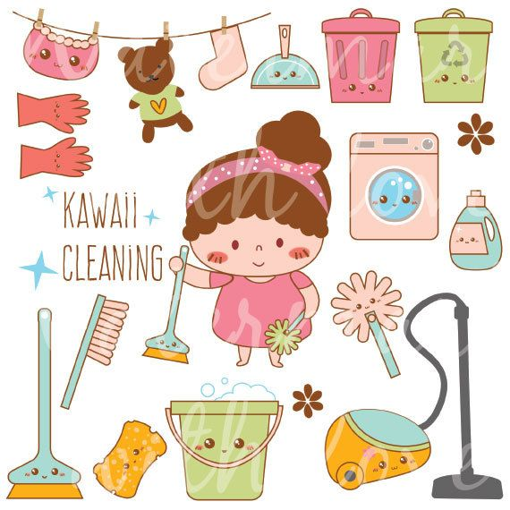 Kawaii cleaning planner by. Asteroid clipart round stone
