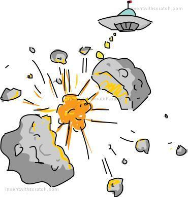 Programming playground the two. Asteroid clipart scratch
