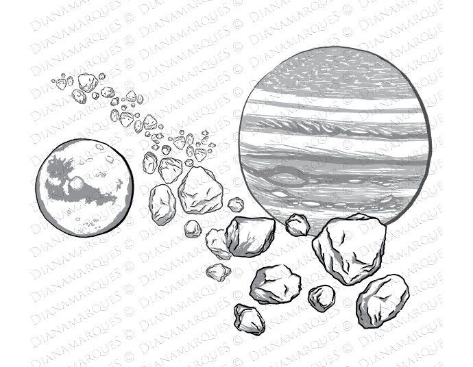 Asteroid clipart sketch. Main belt clip art