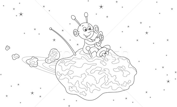 Asteroid clipart sketch. Meteorite drawing at getdrawings