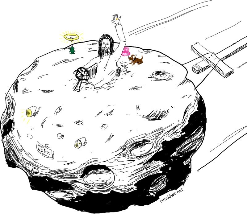 Own drawings cimddwc jesus. Asteroid clipart sketch