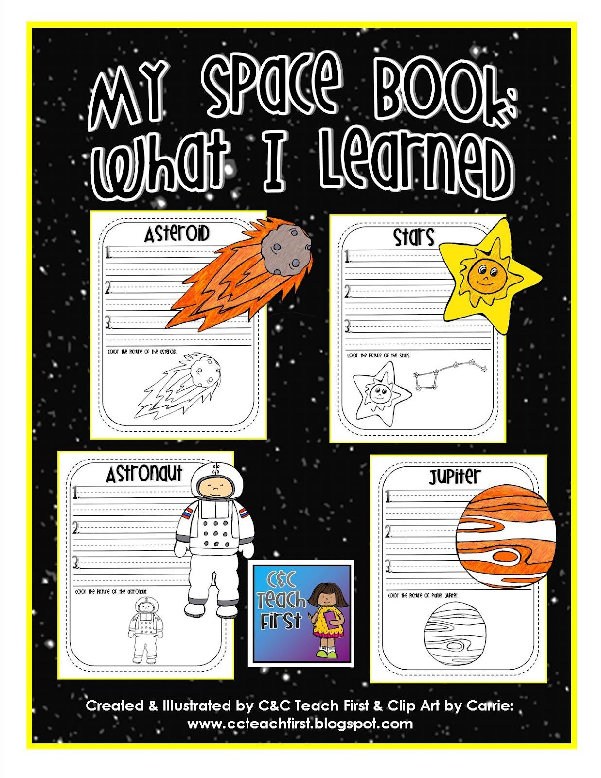 Asteroid clipart solar system space. My book includes facts