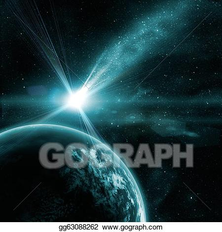 Stock illustration earth in. Asteroid clipart space thing