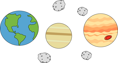 Asteroid clipart space thing. Planets and asteroids clip