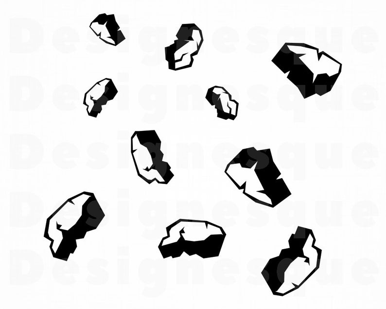 Asteroid clipart svg. Asteroids space files for