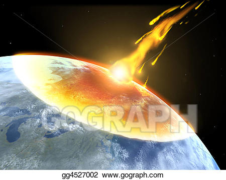 Drawing collision of an. Asteroid clipart yellow flame