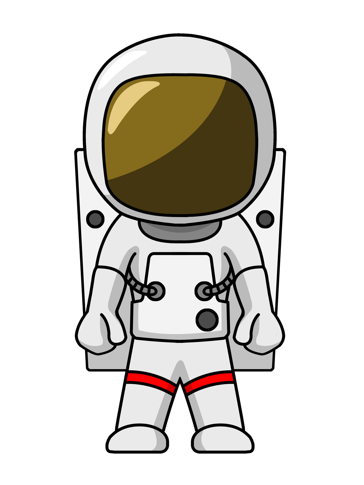 Astronaut clip art images. Ufo clipart simple cartoon