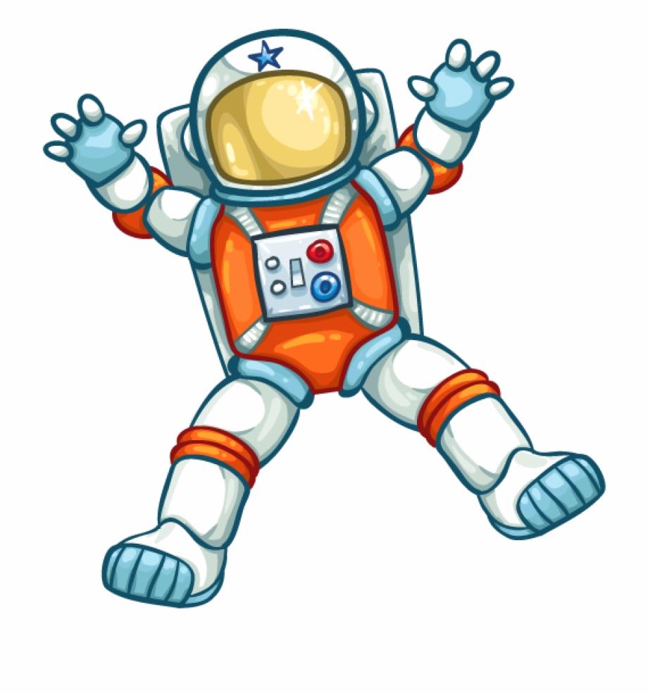 Transparent background . Astronaut clipart