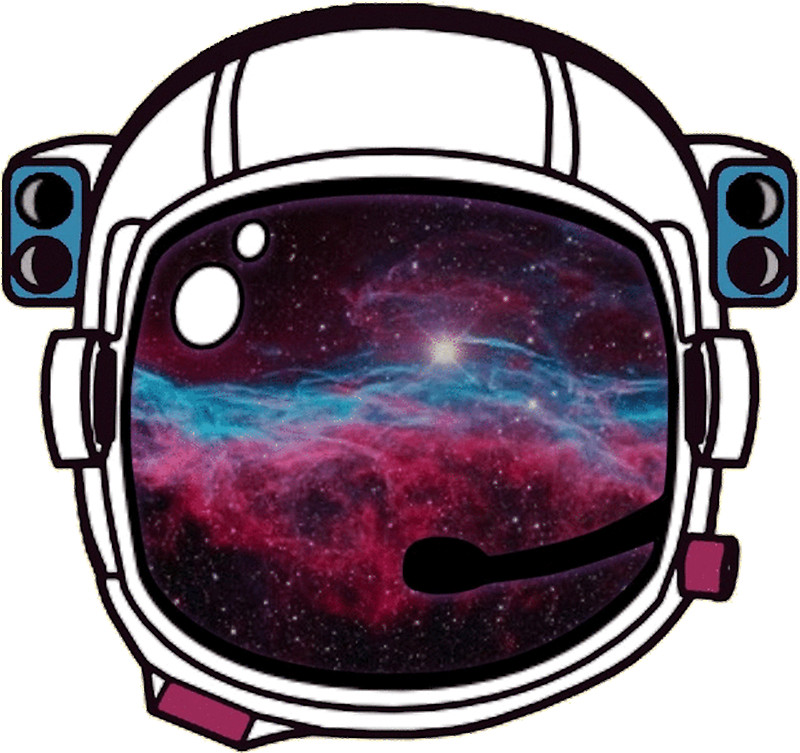 Astronaut clipart astronaut helmet. Outer space galaxy stickers