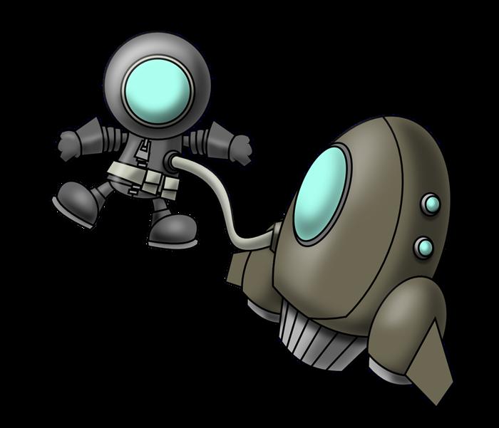 Animation clipartpen. Spaceship clipart astronaut