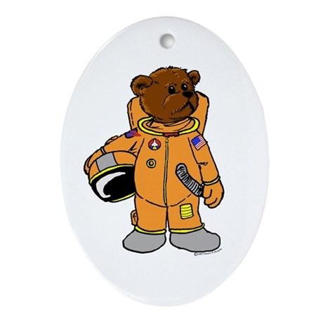 Astronaut clipart bear. Buzz the oval ornament