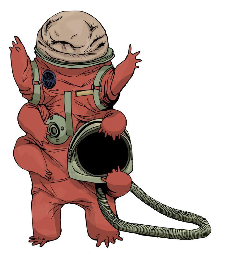 best tardigrade images. Astronaut clipart bear