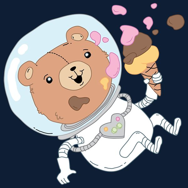 Astronaut clipart bear. Spread some smiles with