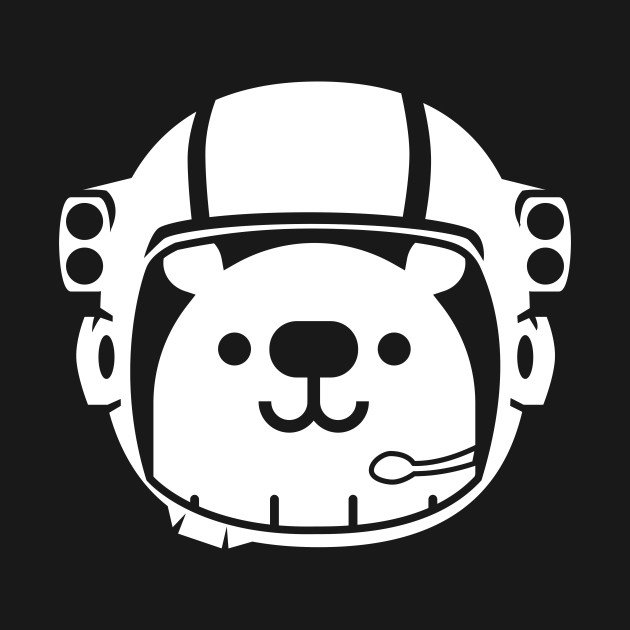 Funny cute space t. Astronaut clipart bear