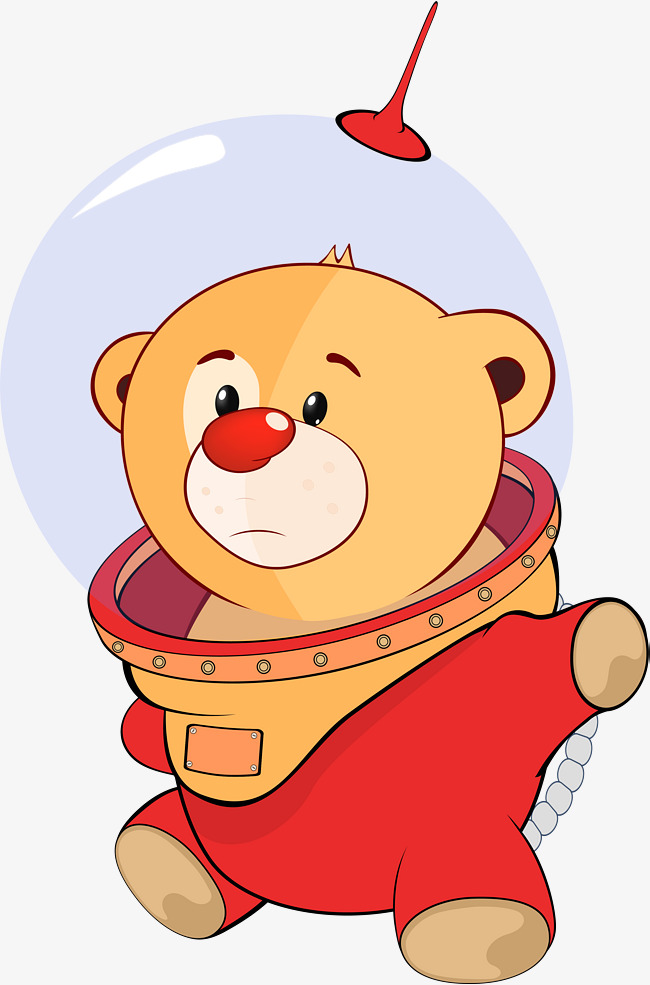 Astronaut clipart bear. Brown png image and