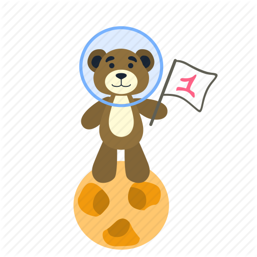 Astronaut clipart bear. Iconfinder spaceman by anna