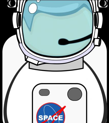 Helmet . Astronaut clipart body