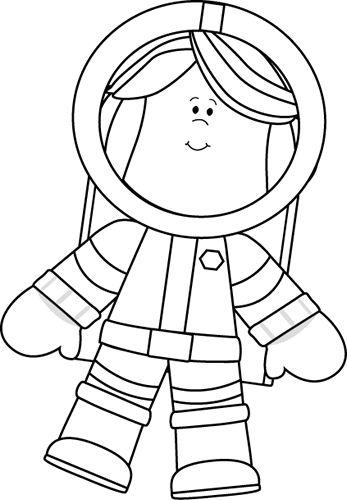 best space theme. Astronaut clipart body