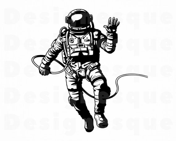 Astronaut clipart body. Svg space files for