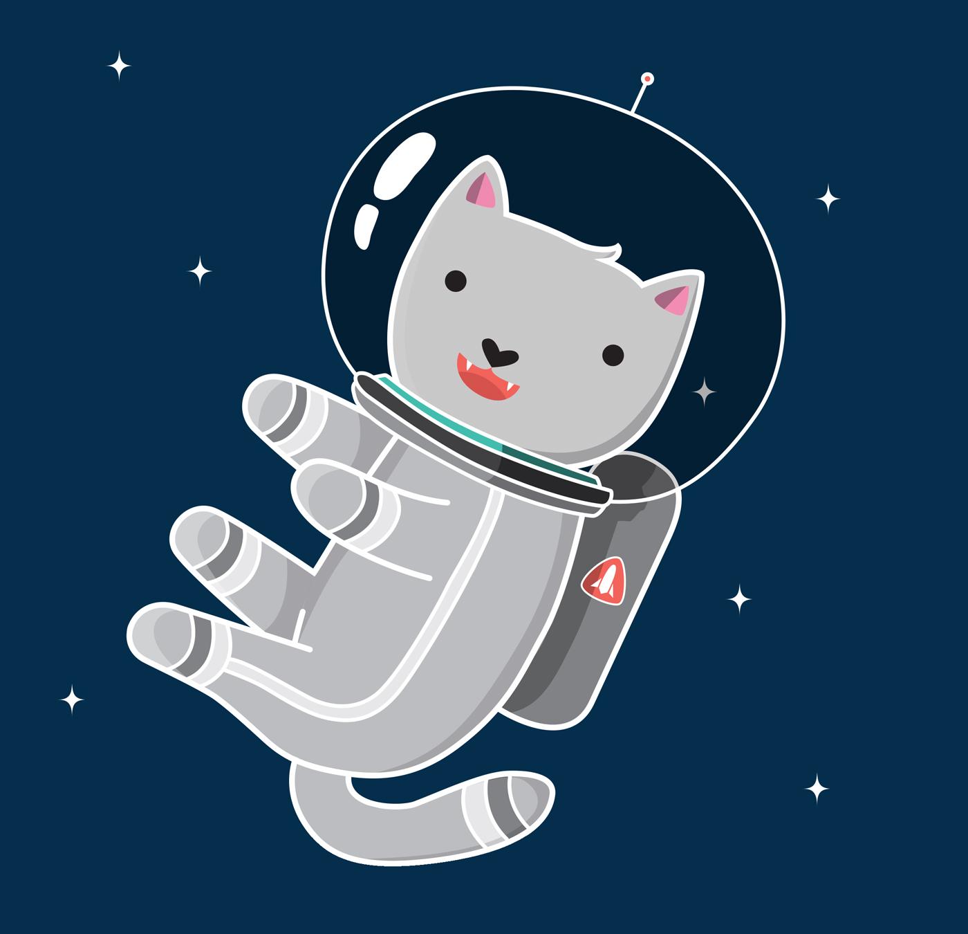 Astronaut clipart cat. Space kitty porsha marais