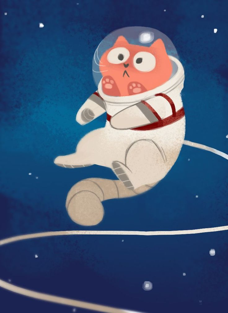 Astronaut clipart cat.  best drawings images