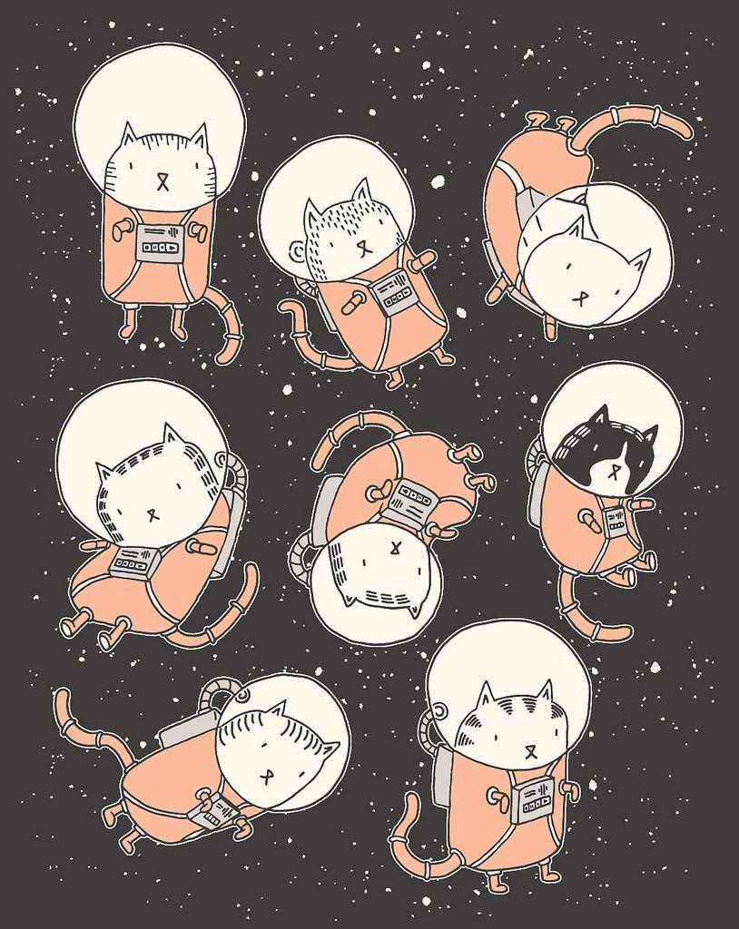 Astronaut clipart cat. Kitty cats c o