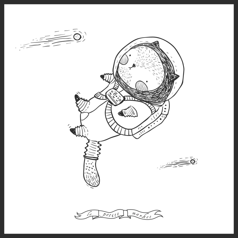 Astronaut clipart cat. Cute images clip art