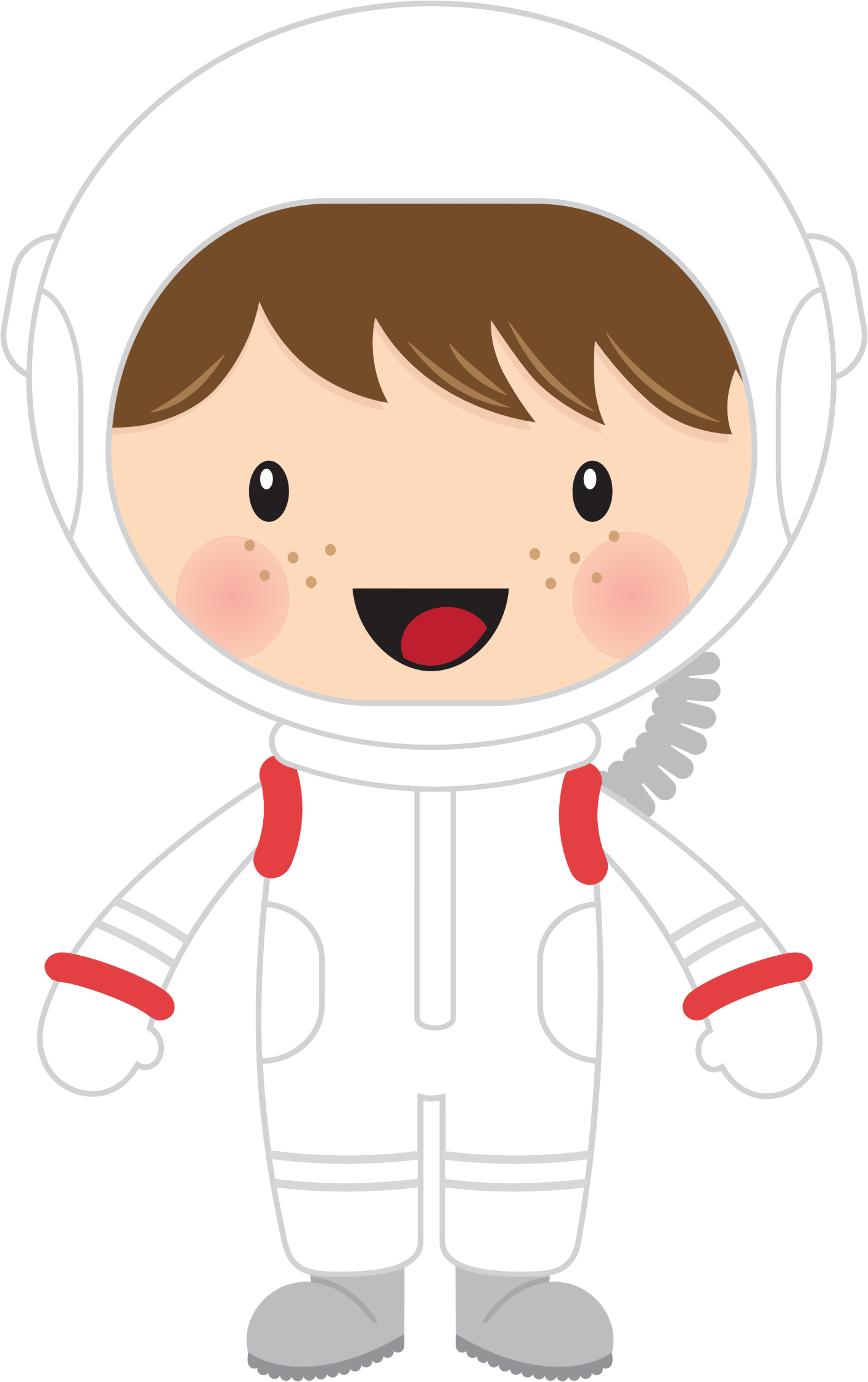 Little astronaut big image. Tooth clipart boy