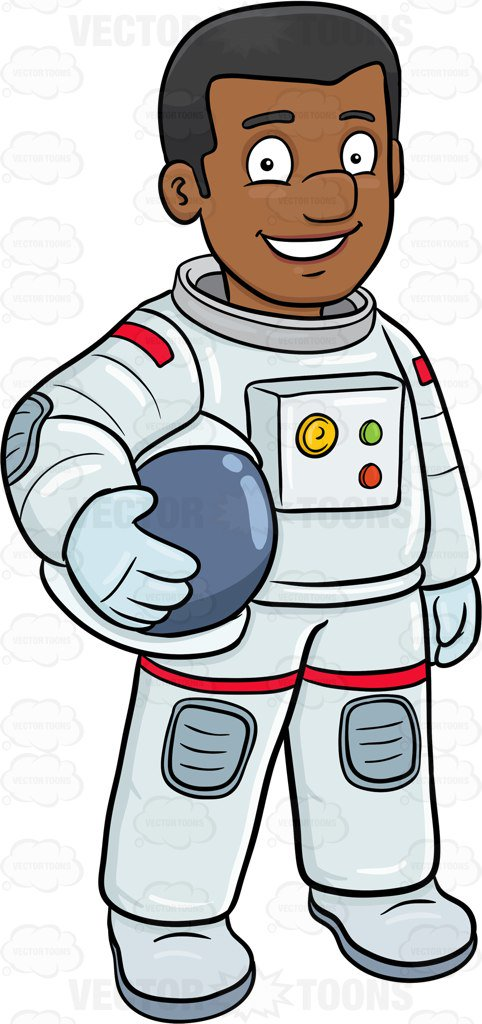 Boot clipart astronaut. A black male smiles