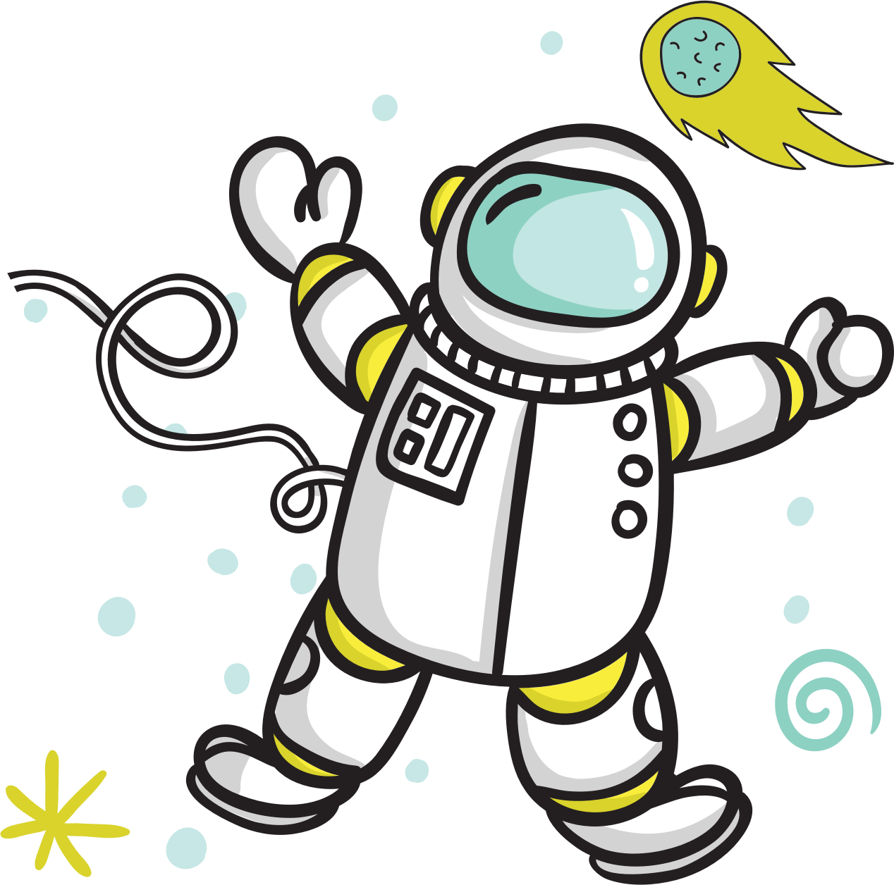 . Astronaut clipart comic