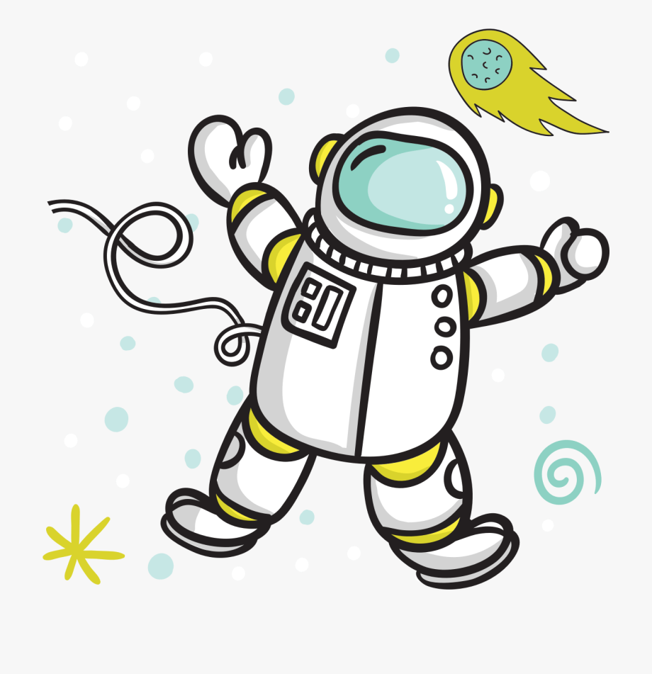 Astronaut clipart comic. Of cliparts