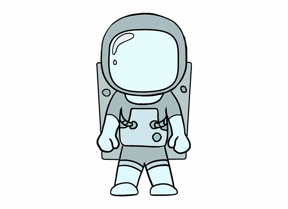 Drawing area space suit. Astronaut clipart easy