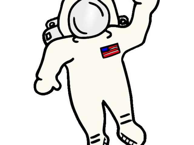Line drawing free download. Astronaut clipart easy